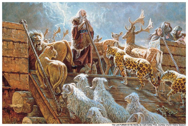 diluvio arca-de-noe-noe-e-os-animais-na-arca